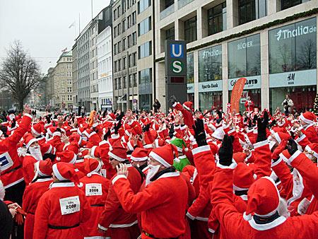 Weihnachtsmann Lauf in Hamburg