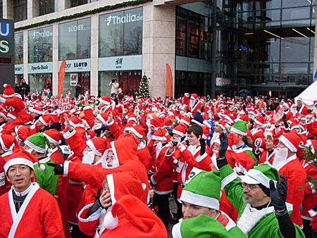 Weihnachtsmann-Lauf Hamburg