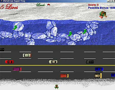 Frogger-Weihnachten-Spiel