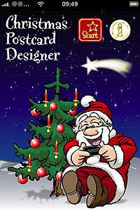 Weihnachten Grußkarten über iphone